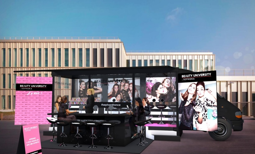 beauty truck 2015- beauty university by sephora